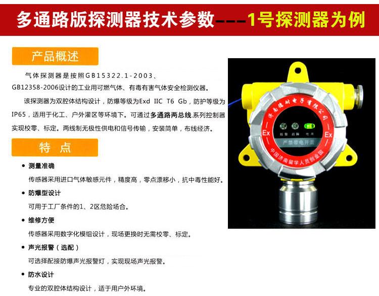 工业用冰醋酸探测报警器说明