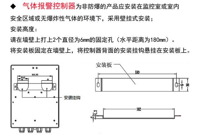 工业用冰醋酸探测报警器安装在墙壁